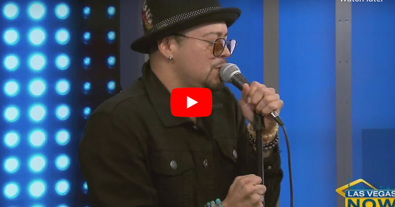 Andy Vargas performs live in studio